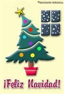Feliz Navidad con árbol inclinado