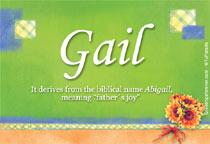 Name Gail