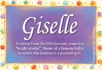 Name Giselle