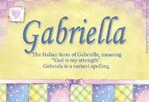 Name Gabriella