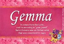 Name Gemma