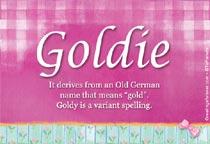 Name Goldie