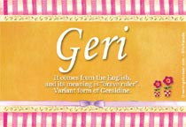 Name Geri