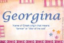 Name Georgina