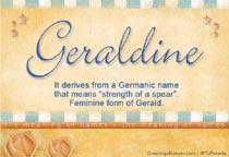 Name Geraldine
