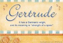 Name Gertrude
