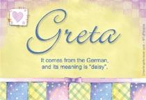 Name Greta