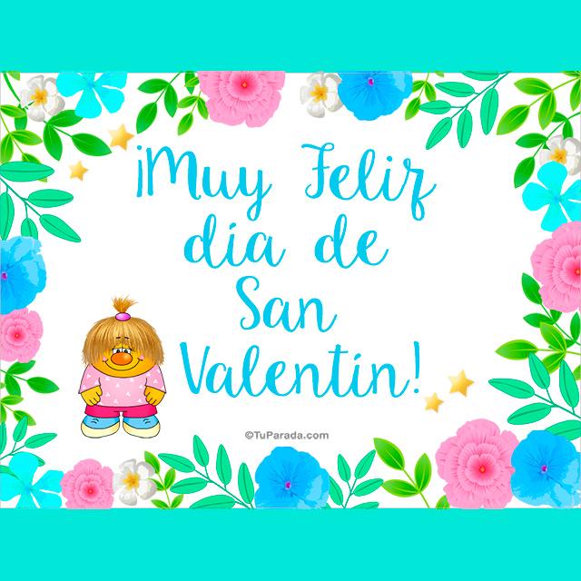 Tarjeta - Muy feliz día de San Valentín