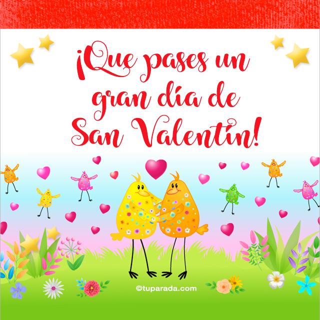 Tarjeta - Festejemos San Valentín