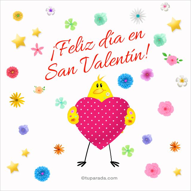 Tarjeta - San Valentín floreado