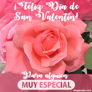 Feliz día de San Valentín para alguien especial