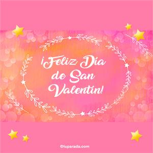Mensaje de Feliz día de San Valentín