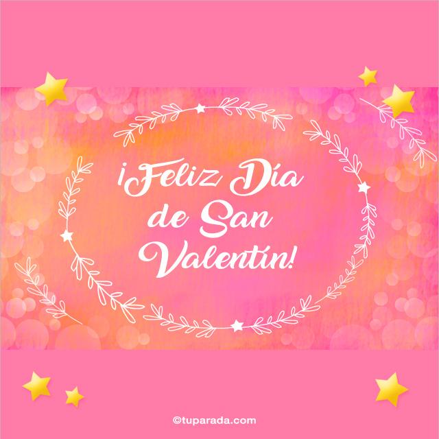 Tarjeta - Mensaje de Feliz día de San Valentín