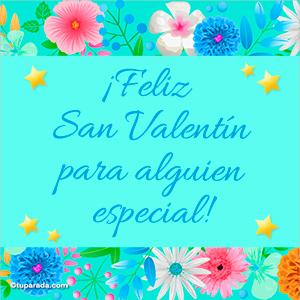 Imagen de San Valentín en celeste