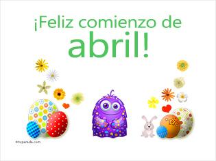 Feliz comienzo de abril