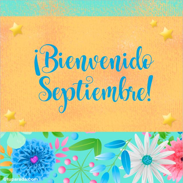 Tarjeta - Bienvenido septiembre