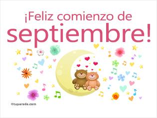 Feliz comienzo de septiembre