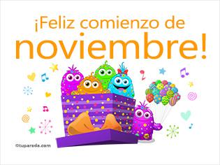 Feliz comienzo de noviembre