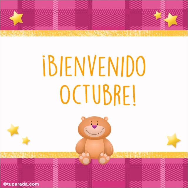 Tarjeta - Bienvenido octubre