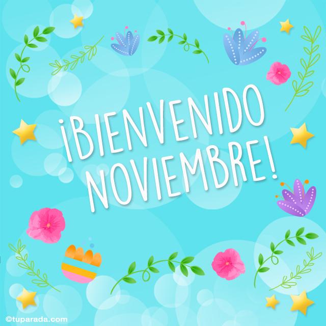 Tarjeta - Bienvenido noviembre