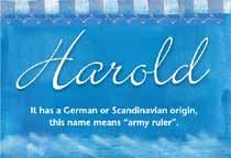 Name Harold