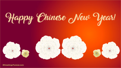 Happy chinese new year ecard