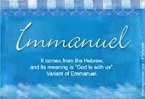 Name Immanuel
