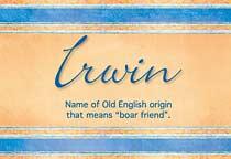 Name Irwin