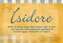 Name Isidore