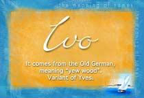 Name Ivo
