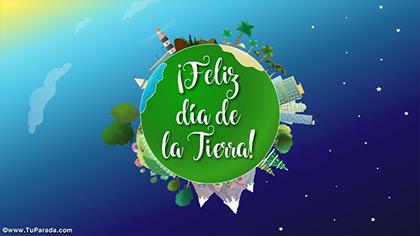 Tarjetas, postales: Día de la Tierra