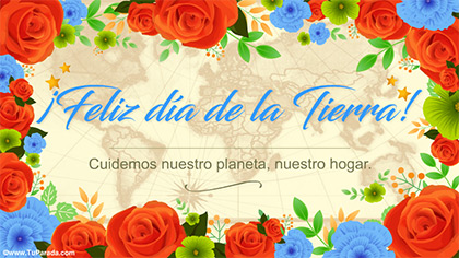 Tarjeta Feliz Día de la Tierra