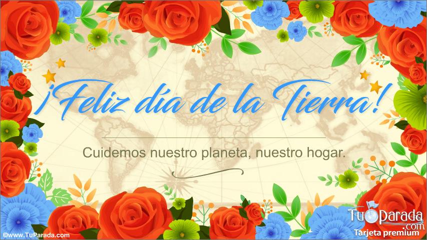 Tarjeta - Tarjeta Feliz Día de la Tierra