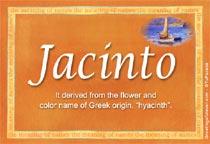 Name Jacinto