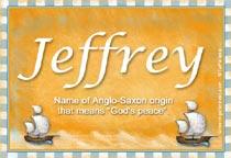 Name Jeffrey