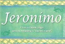 Name Jeronimo