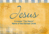 Name Jesus