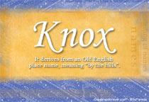 Name Knox