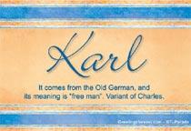 Name Karl