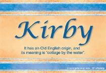 Name Kirby