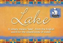 Name Lake
