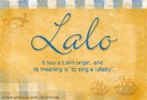 Name Lalo