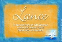 Name Lance