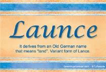 Name Launce