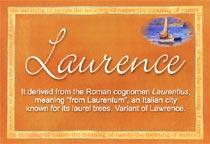 Name Laurence