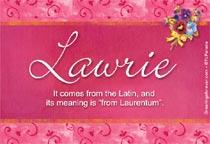 Name Lawrie