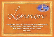 Name Lennon