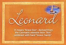 Name Leonard