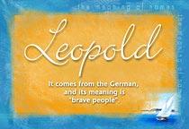 Name Leopold
