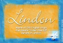 Name Lindon